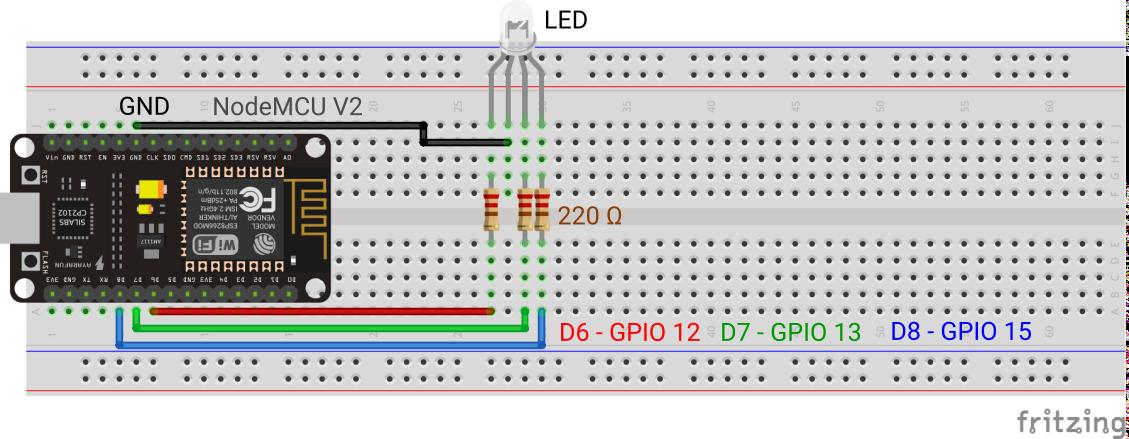 ESP8266 NodeMCU RGB LED Remote Control - Mechatronics Blog